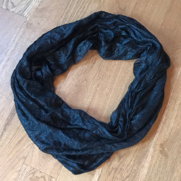 Express Accessories - Express Black Glitter Infinity Scarf